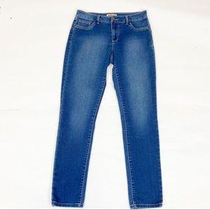 Blue Spice High Waisted Skinny Jeans Blue 7/8